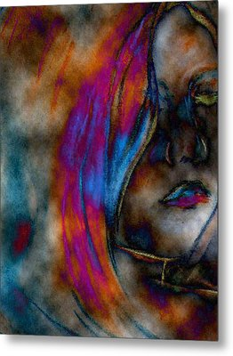 Face Of A Girl Metal Print