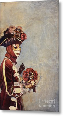 Face Of Carnivale- Italy Metal Print