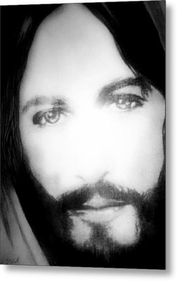 Face Of Jesus Metal Print by Susan  Solak