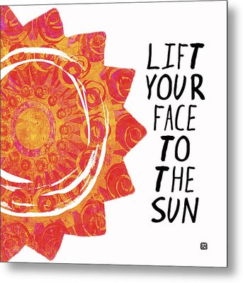 Metal Print featuring the painting Face To The Sun by Lisa Weedn