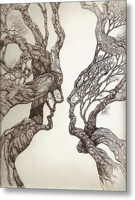 Face Tree 11 Metal Print by Brian Kirchner