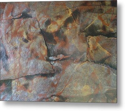Faces Among Us Metal Print by Renee Holder