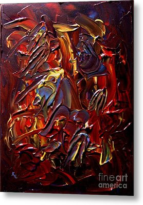 Faces And Angels Metal Print by Karen L Christophersen