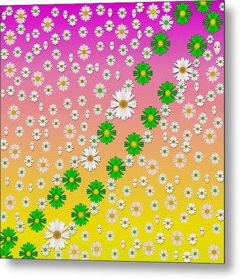 Faces And Floral Always In Right Time Metal Print