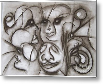 Faces And Places Metal Print