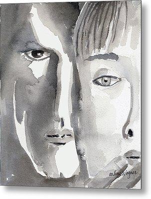 Faces Metal Print by Arline Wagner