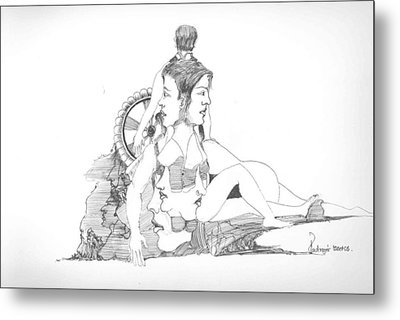 Faces Bodies And Other Forms Metal Print by Padamvir Singh