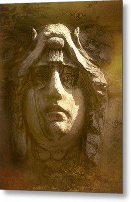 Faces Of Prague 5 Metal Print by Robert Meyerson