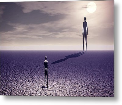 Facing The Future Metal Print