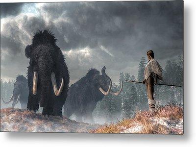 Facing The Mammoths Metal Print by Daniel Eskridge