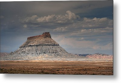 Metal Print featuring the photograph Factory Butte by Dan Mihai