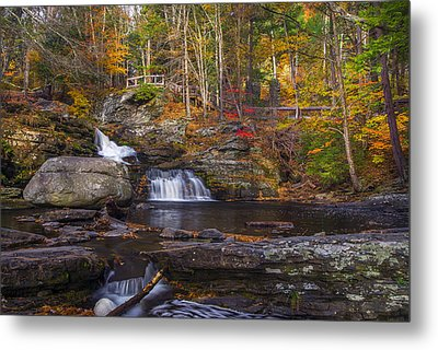 Metal Print featuring the photograph Factory Falls by Mark Papke