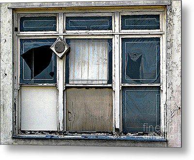 Metal Print featuring the photograph Factory Windows by Ethna Gillespie