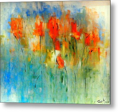 Faded Warm Autumn Wind Metal Print