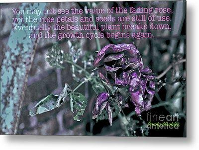 Fading Rose Metal Print