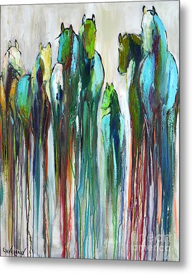 Metal Print featuring the painting Fading Souls by Cher Devereaux