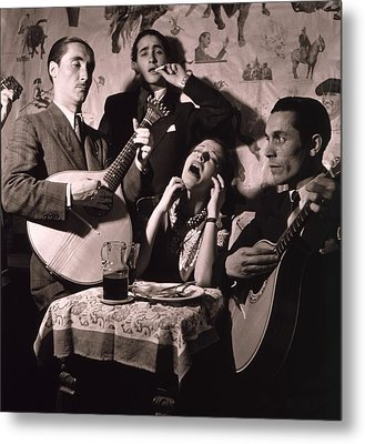 Fado Singer In Portuguese Night Club Metal Print by Everett