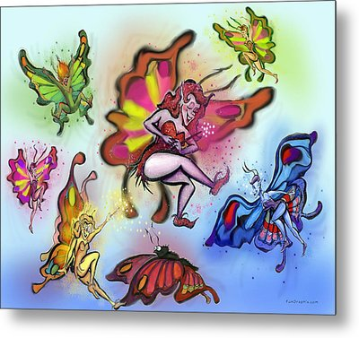 Faeries Metal Print by Kevin Middleton
