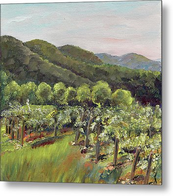 Fainting Goat Valley - Vineyards -  Jasper, Ga Metal Print