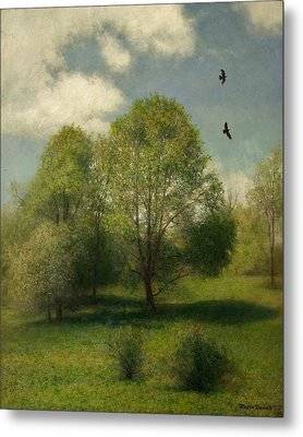 Metal Print featuring the painting Fairchild Hill by Wayne Daniels