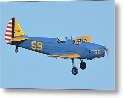 Fairchild Pt-19a N11cm Chino California April 29 2016 Metal Print by Brian Lockett