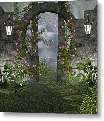 Fairies Door Metal Print by Digital Art Cafe