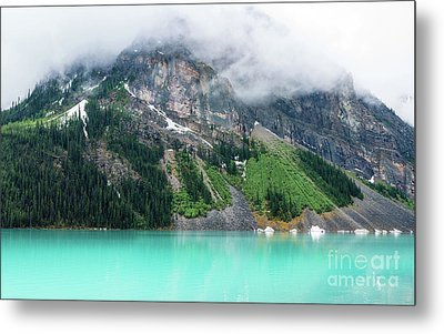 Fairview Mountain Above Lake Louise Metal Print by Mike Reid