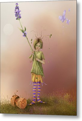 Fairy Bella Lavender Metal Print