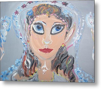 Metal Print featuring the painting Fairy Bride by Judith Desrosiers
