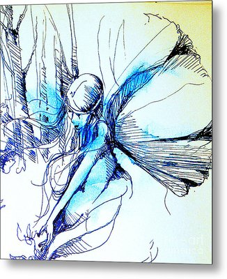 Fairy Doodles Metal Print by Linda Shackelford