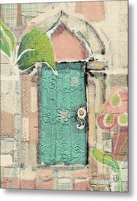 Fairy Door Metal Print by Carrie Joy Byrnes
