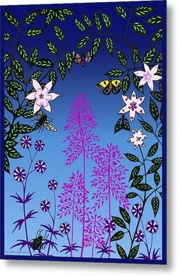 Fairy Garden By Tarra Light Metal Print by Robert Bissett