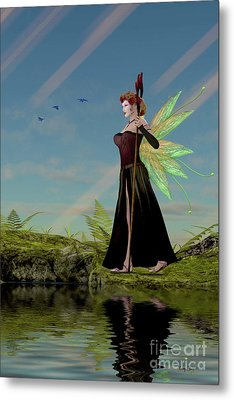 Fairy Lillith By Pond Metal Print