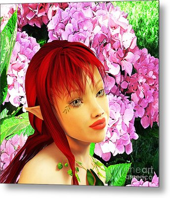 Fairy Portrait Metal Print by Methune Hively