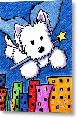 Fairy Princess Westie Metal Print