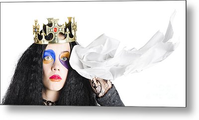 Fairy Tale Crying Queen Metal Print by Jorgo Photography - Wall Art Gallery
