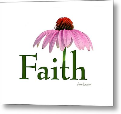 Faith Coneflower Shirt Metal Print by Ann Lauwers