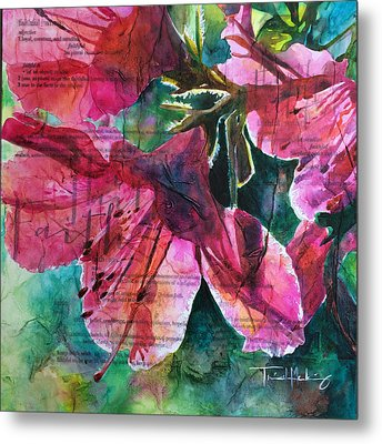 Faith - Pink Azalea Metal Print by Trish McKinney