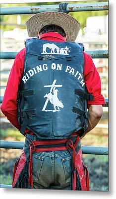 Faith Rider Metal Print by Steven Bateson