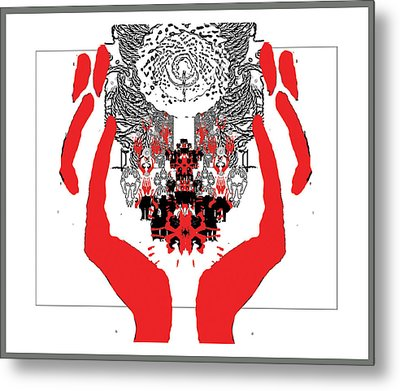 Faith Symbol Metal Print by Olena Kulyk