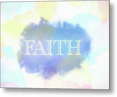 Faith Watercolor Metal Print