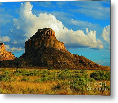 Fajada Butte At Days End Metal Print by Feva Fotos
