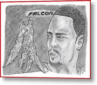 Falcon Metal Print by Chris DelVecchio