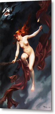 Falero Luis Ricardo The Witches Sabbath Metal Print