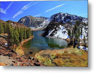 Fall At Ellery Lake Metal Print by David Toussaint - Photographersnature.com