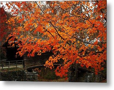 Fall At Humpback Bridge Metal Print