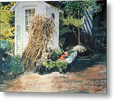 Metal Print featuring the painting Fall At Ivy Corners by Elizabeth Carr