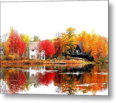 Fall At The Pond Metal Print