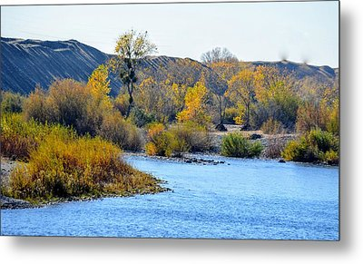 Metal Print featuring the photograph Fall Color On The Yuba  by AJ Schibig