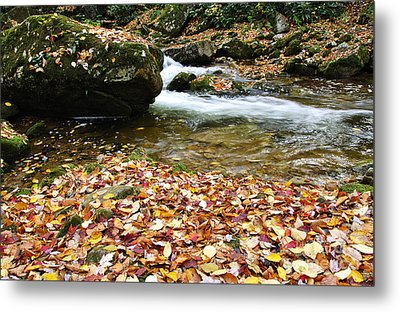 Fall Color Rushing Stream Metal Print by Thomas R Fletcher